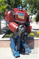 Optimus Prime cosplay from 'War for Cybertron' by Old-Trenchy