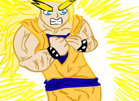 MY FREIND TURN INTO GOKU SSJ3 by Supernya39desu