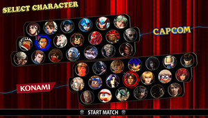 Konami vs Capcom - My Roster by DENDEROTTO