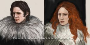 Jon Snow and Ygritte - on work by LauraMSS