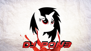 Dj pon3 paper background by JoshiePup
