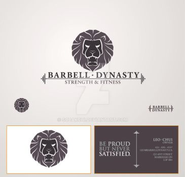 Barbell Dynasty Business Card by sobakchi