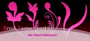 Brush vector floral by neryl86
