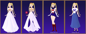 Disney Sailor Moon Serena by roseprincessmitia