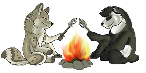 Roasting marshmallows by boxes-of-foxxes