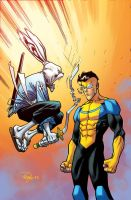 Usagi Yo Jimbo VS Invincible by RyanOttley