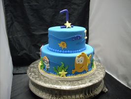 bubble guppies cake by ninny85310