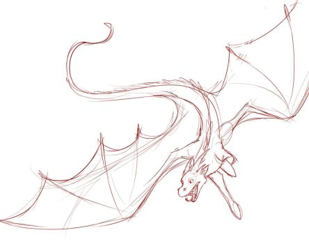 Dragon Sketch by The-Flaming-Tiger