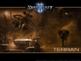 Starcraft 2 Terran Wallpaper by maul