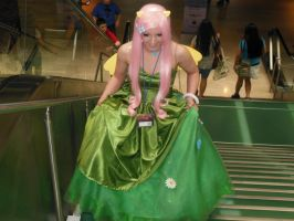 Gala Fluttershy Climbs the Stairs by EvasGlassSlipper
