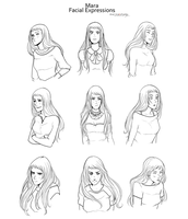 Facial Expressions by Marina-Shads