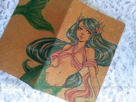 moleskine journal - coral queen + VIDEO by demon-rae