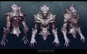 Alien Insectoid sculpt. by FirstKeeper