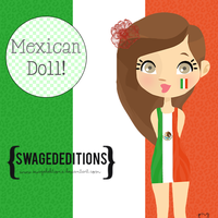 Mexican Doll -Swaged Editions by DreamsChocolate