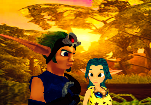 You and Me Jak and Keira Hagai MMD by 9029561