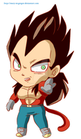 DBGT: Vegeta SS4 chibi by Mary-McGregor