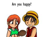 Meat of Love - Luffy x Nami by tazozo