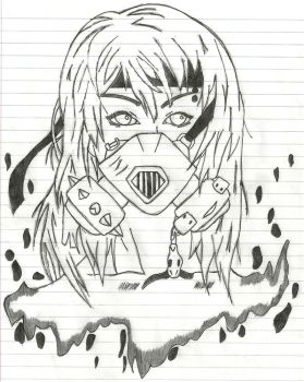 Gas Mask Girl by JinxAndKiyah
