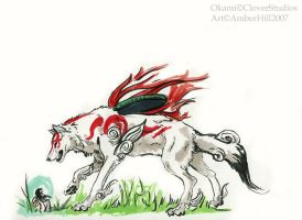 Freehand Amaterasu by vantid