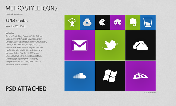 METRO styled icons by zpecter