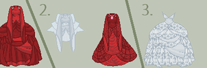 Red and White dresses ADOPTABLES CLOSED by SquirrellyWrathGrl