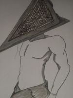Pyramid head sketch by Pawky-san