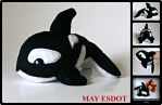 Small Orca: Killer Whale Plush Beanie by MayEsdot