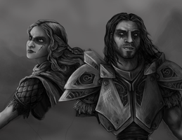 WIP: Dragon Seekers _Farkas and my Nord_ by LemonSherman