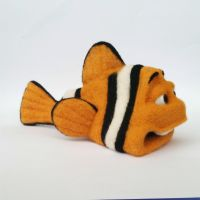 felted clownfish by ConniBerlin
