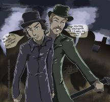 Holmes and Watson skulking by Neoaves