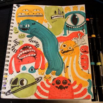 Primary Colors Monster Page by loveandasandwich