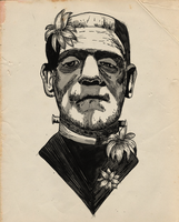 Frankenstein's monster by jettblackfeeling