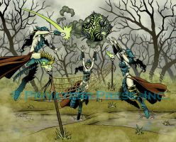 Witch Coven Volleyball by CreationMatrix