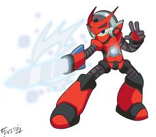 Mighty No.9 OC: Fade by Shoutaro-Saito