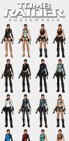 Tomb Raider Underworld - Lara's outfits by HailSatana