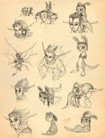 Jak and Daxter sketches by Japandragon