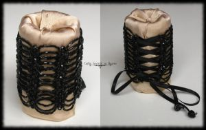 Moulin Rouge corset cuff by Cayca