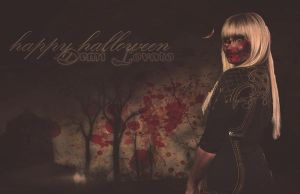 Demi Lovato Wallpaper Halloween by DanielaPenaRusher