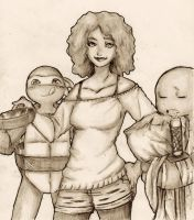 Classic April with Turtles by ActionKiddy