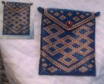 Celtic knot peyote bag by thebluekraken