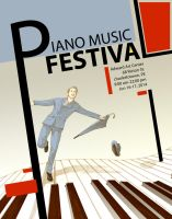 piano music festival poster by JYF1982