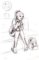 Waiting for the bus by crazydiary86