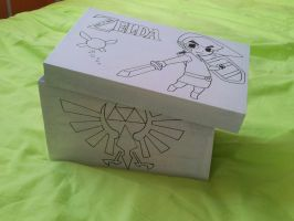 Zelda box with Link by FoofyCakez