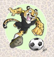 Leopard ITCM soccer mascot by Almiux19