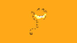 Minimal Garfield Wallpaper by Cheetashock