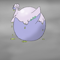 Goodra in color by Blimpfurry