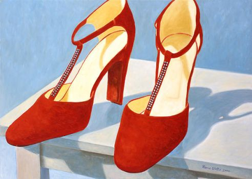 Red Suede Shoes by magnivon