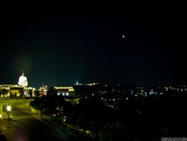 The moon over Budapest by 5haman0id