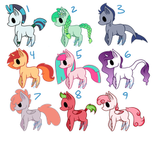 MLP Adoptables [6/9 OPEN] by Winter-Hooves