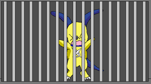 DxDoggymon gone to prison XD by HeroHeart001